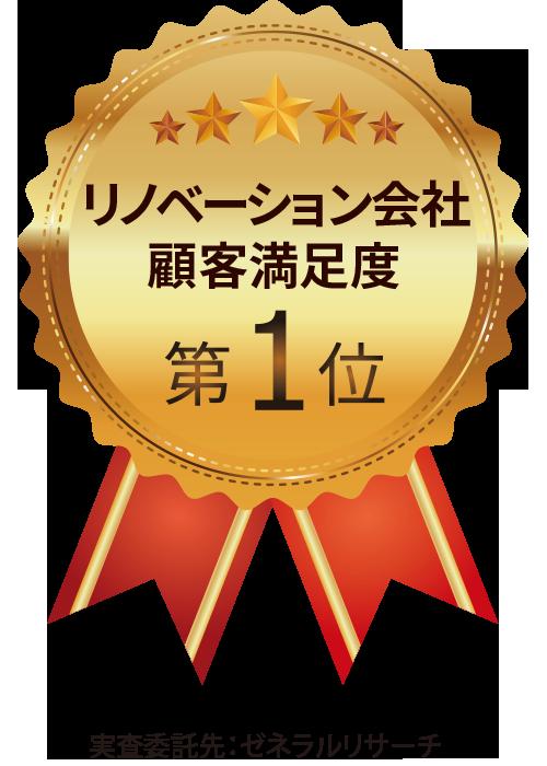 リノベーション会社顧客満足度第1位