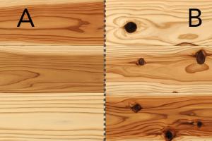 無垢材比較国産杉